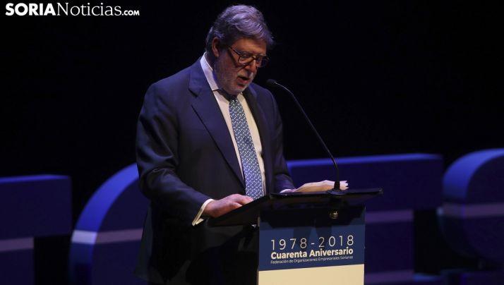 Santiago Aparicio, en la gala del 40 aniversario de FOES. /SN