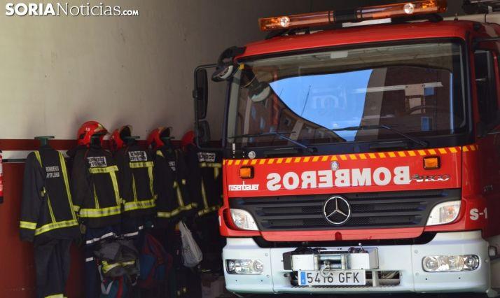 Foto 1 - Un atendido por quemaduras en manos y cara tras incendiarse la campana de una vivienda en Soria