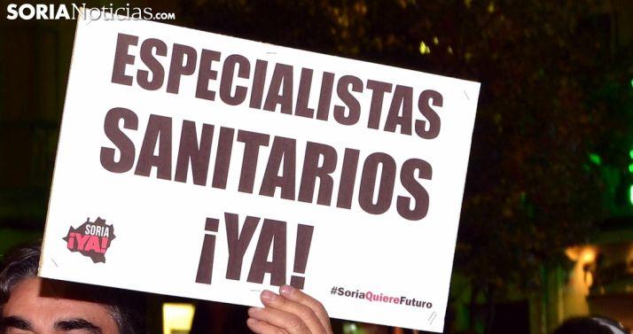 Uno de los carteles exhibidos en la manifestación del pasado viernes. /SN