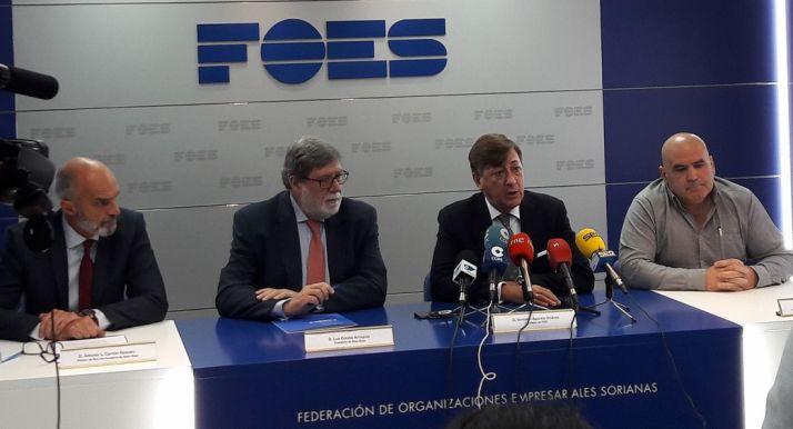 Antonio L. Carrión (izda.) Santiago Aparicio, Luis Corella y Roberto Pérez.