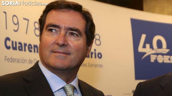 Antonio Garamendi, este viernes en la capital soriana. /SN