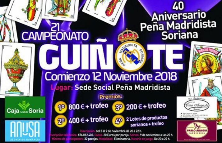 Foto 1 - El viernes arrancan las inscripciones para el campeonato de guiñote de la Peña Madridista
