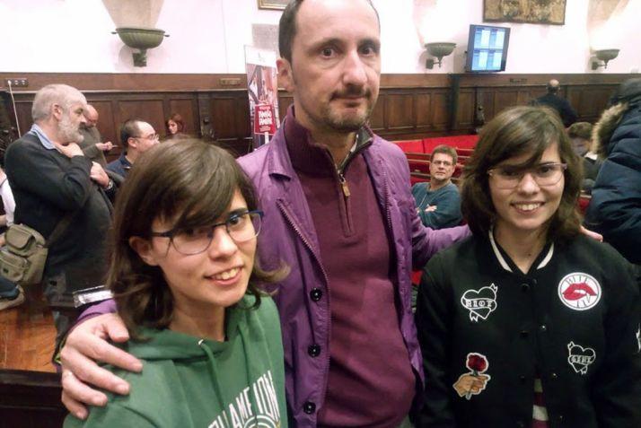 Las jóvenes ajedrecistas en Salamanca.