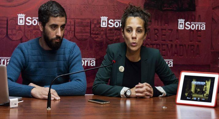 Inés Andrés y Diego Mayor este jueves. /Ayto.