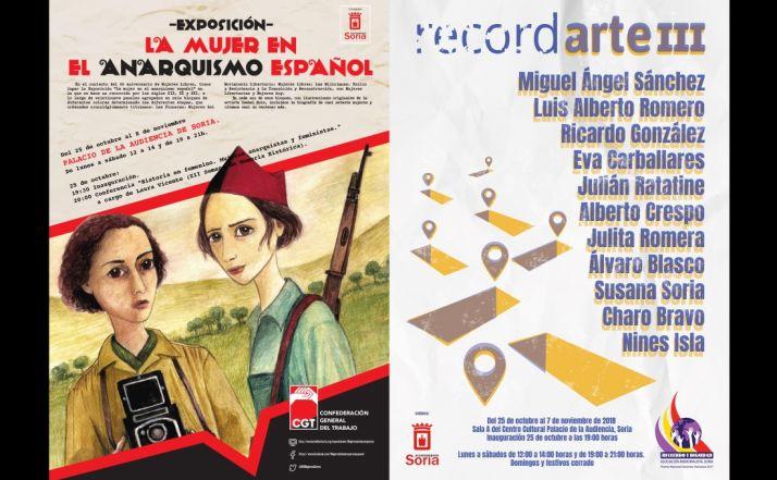Carteles de las dos exposiciones que abren este jueves en La Audiencia. /ASRD