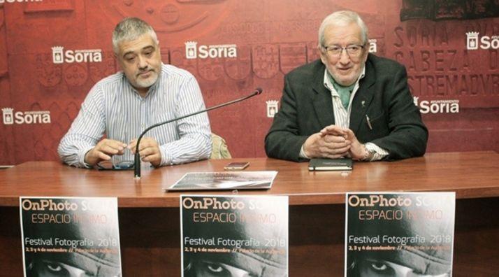 Juan Carlos Rodrigo (izda.) y Jesús Bárez este juevs. /EP