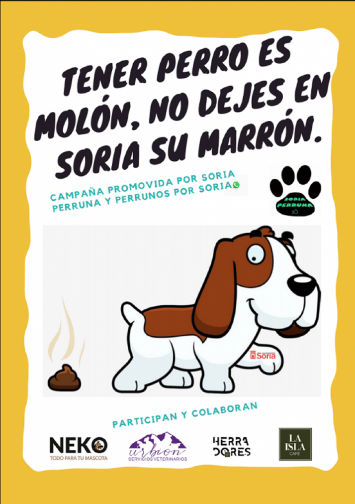Foto 2 - 'Soria perruna' y 'Perrunos por Soria' llaman a la higiene de las mascotas en la calle