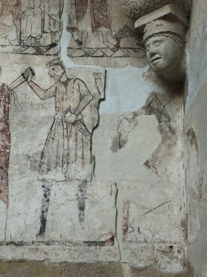 Una de las pinturas restauradas. /Junta