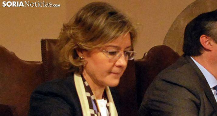 García Tejerina, en una visita a Soria en su etapa como ministra. /SN