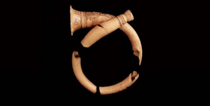 Trompas celtíberas recuperadas del yacimiento de Numancia. /Jta.