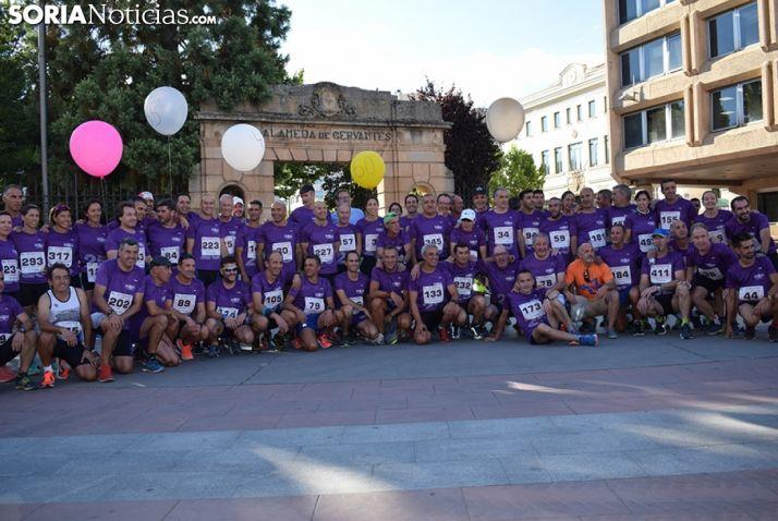 Foto de familia del Club Puente del Canto en la XXV Carrera popular Soria Valonsadero. /soria noticias