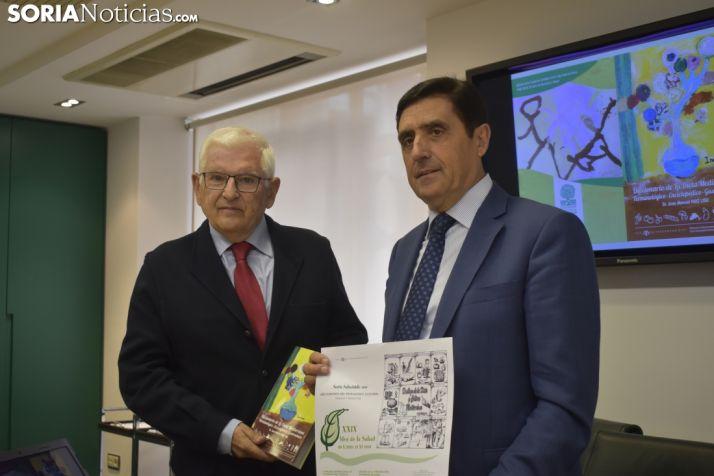 Ruiz Liso y Martínez Izquierdo durante la presentación del Mes de la Salud.