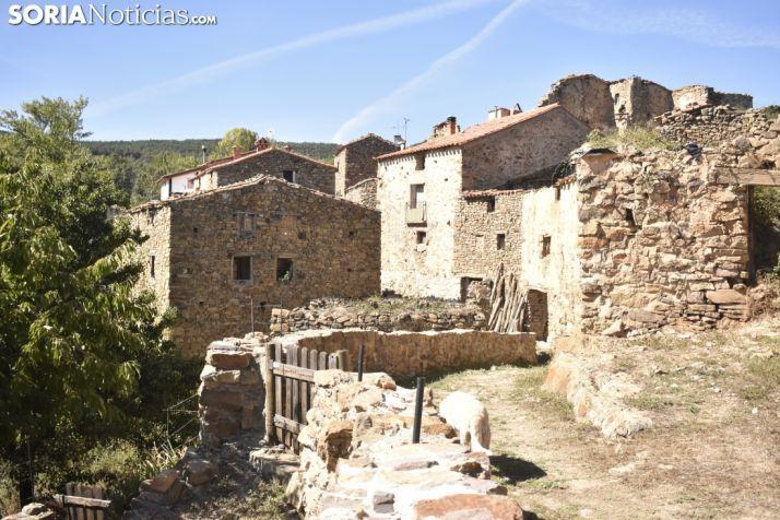 En La Vega conviven casas rehabilitadas con solares en ruina. SN