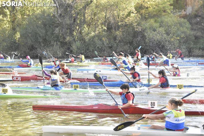GALERÍA: 250 regatistas se han enfrentado al Duero por San Saturio