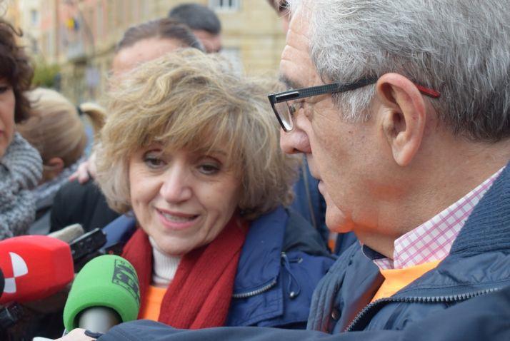 María Luisa Carcedo y Fernando Ligero.