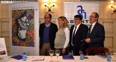 López, Santos, Cedazo y Mugarza, en la presentación del ciclo gastronómico. /SN