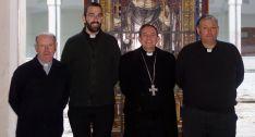 Alejandro García (izda.), Rubén Tejedor, Abilio Martínez y Jesús Florencio Hernández. /DOS