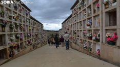 Imagen del cementerio de la capital este jueves de Todos los Santos