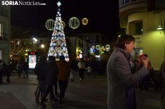 Una imagen del ambiente este viernes en el centro de la ciudad. /SJ