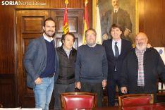 Presentación del Cross de Soria en el ayuntamiento capitalino.