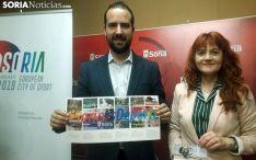 Los concejales Ángel Hernández y Ana Calvo, este martes. /SN