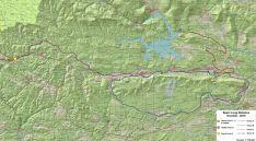Mapa por donde discurrirán las dos pruebas.