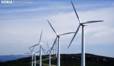 Aerogeneradores en un parque eólico de la provincia. /SN