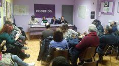 Un acto en la sede soriana de Podemos.