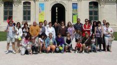 Miembros de agrupaciones olvegueñas en un acto de hermanamiento en Francia.