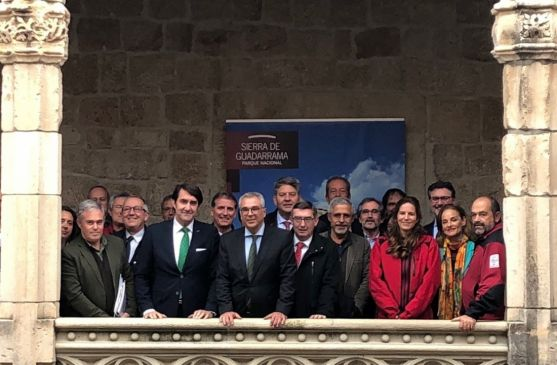 Miembros del Patronato de Guadarrama reunidos esta mañana. /Jta.