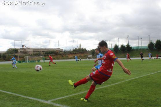 El Numancia B, ante la Arandina en la Ciudad del Fútbol. SN