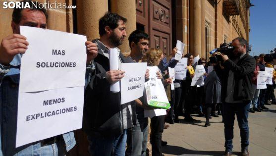 Imagen de archivo de una concentración de empleados de Justicia en la capital. /SN