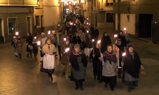 Una escenificación navideña en las calles de Ólvega.