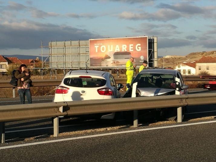 Foto 1 - Accidente en la variante de Soria
