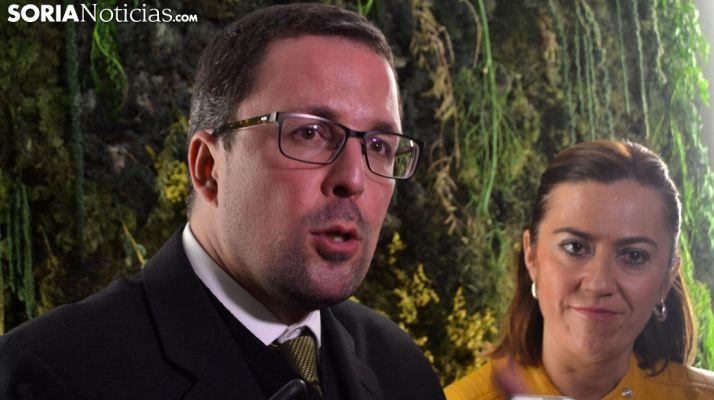 Raúl Blanco y Virginia Barcones este lunes, en la Casa del Agricultor. /SN