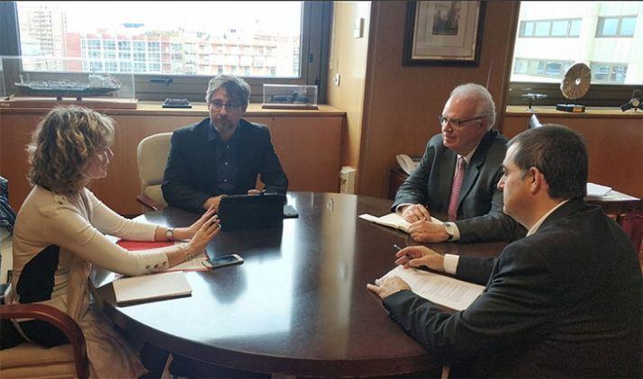 Una imagen de la reunión entre Cámara y Ministerio. /CCIS