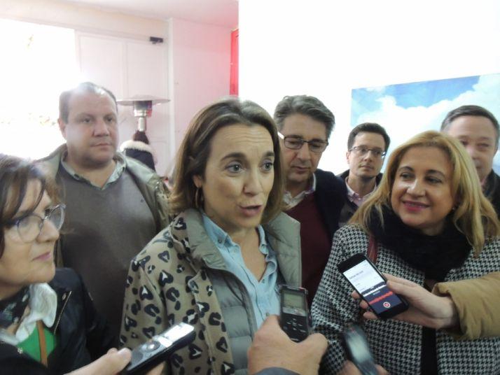 Cuca Gamarra asistió a la feria contra la despoblación que organiza Presura. Cedida