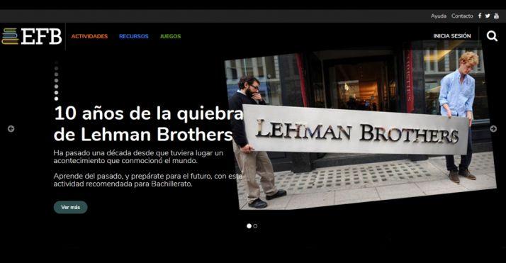 Una imagen de la plataforma educativa www.educacionfinancierabasica.com