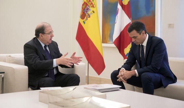 Herrera (izda.) y Sánchez este martes.