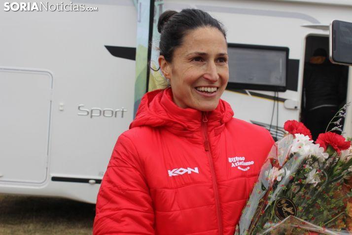 Elena Loyo, tercera en la general y primera española en el Cross de Soria. SN