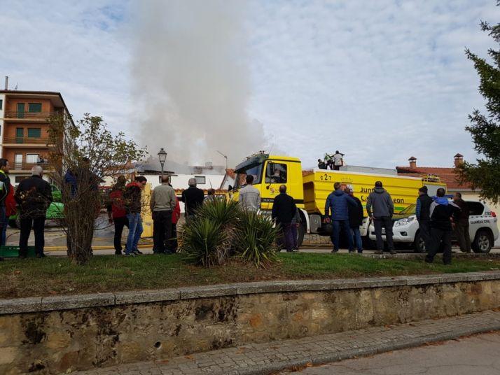 Incendio en Navaleno.