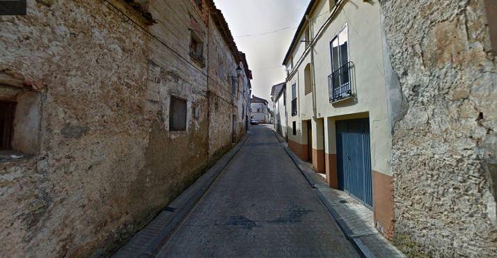 Un tramo de la calle Cava, en Ólvega, dentro del casco antiguo.
