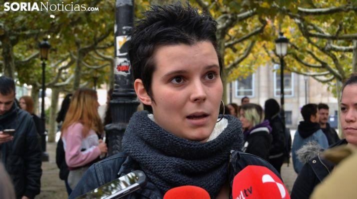 Sara Carro López, una de las manifestantes. /SN