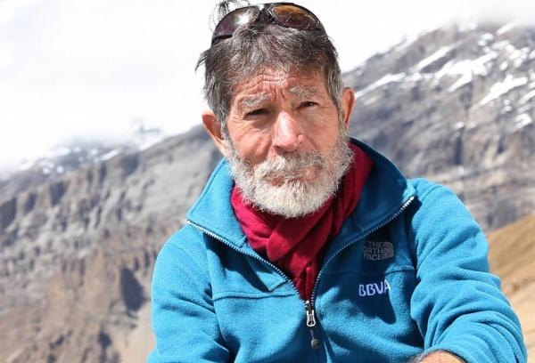Foto 1 - El alpinista Carlos Soria este martes en Soria Saludable