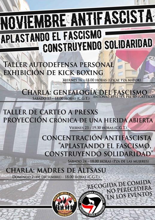 Foto 1 - Plataformas antifascistas organizan este mes diversas actividades en Soria
