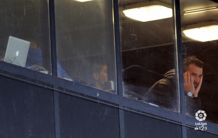 Garai, cariacontecido, ha visto hoy el partido desde la grada. LFP