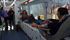 Una imagen de la jornada de donaciones este viernes. /SN
