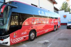 El Numancia estrena nuevo diseño en el autobús con el que realiza sus desplazamientos. CD Numancia