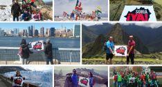 Los sorianos hacen ondear la bandera de Soria Ya en los 5 continentes