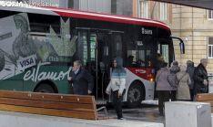 Parada del bus en Mariano Granados. /Freddy Páez